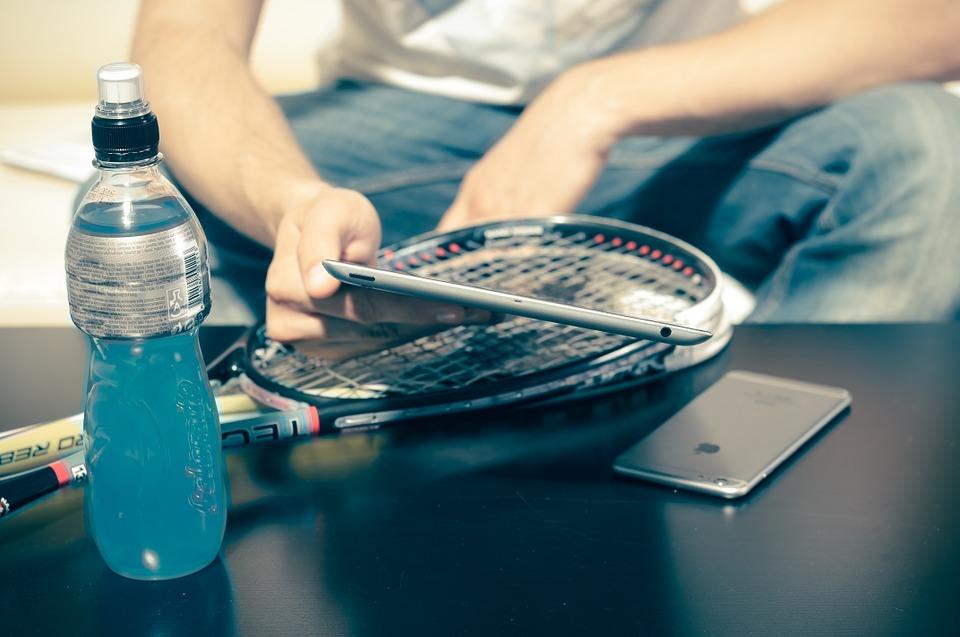 Tennis og smartphone